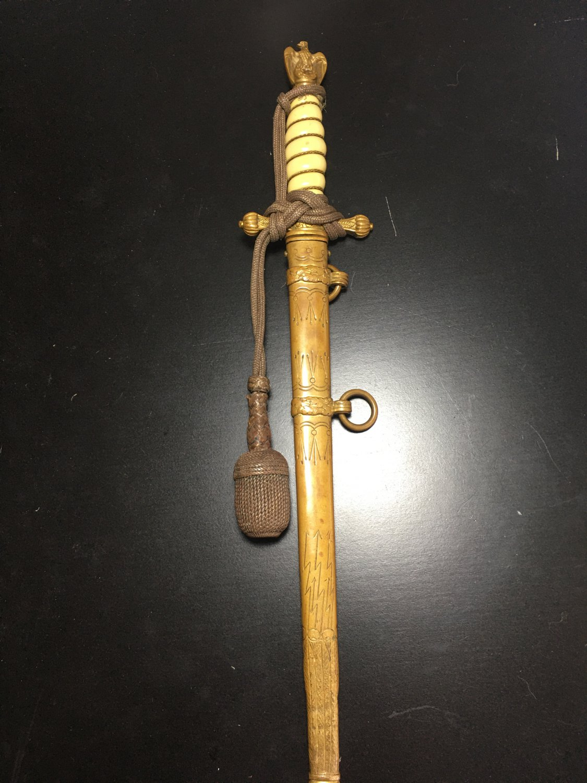 WW2 WWII German Naval dagger personalized  original