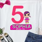 Personalized LOL Surprise Doll Iron Heat Transfer Tee Shirt Design Digital Printable