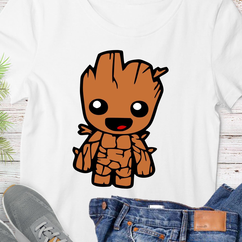 Groot Tee Shirt Graphic Design Digital Instant Download Sublimation Heat Transfer T-shirt SVG PNG D1