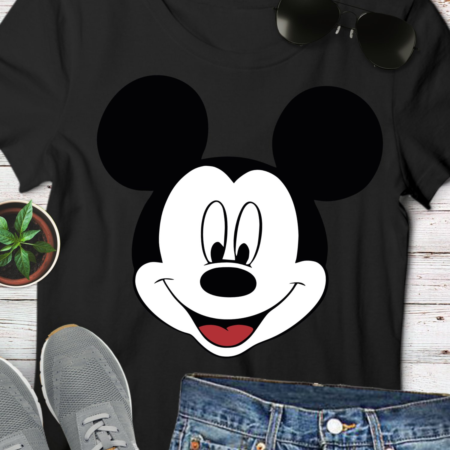Mickey Tee Shirt Graphic Design Digital Instant Download Sublimation Heat Transfer T SVG PNG D1