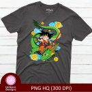 Dragon Ball Z D1 Gohan Tee Shirt Design Graphic Instant Download Transfer