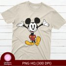 Mickey D2 Disney Toon Tee Shirt Design Graphic Instant Download Transfer