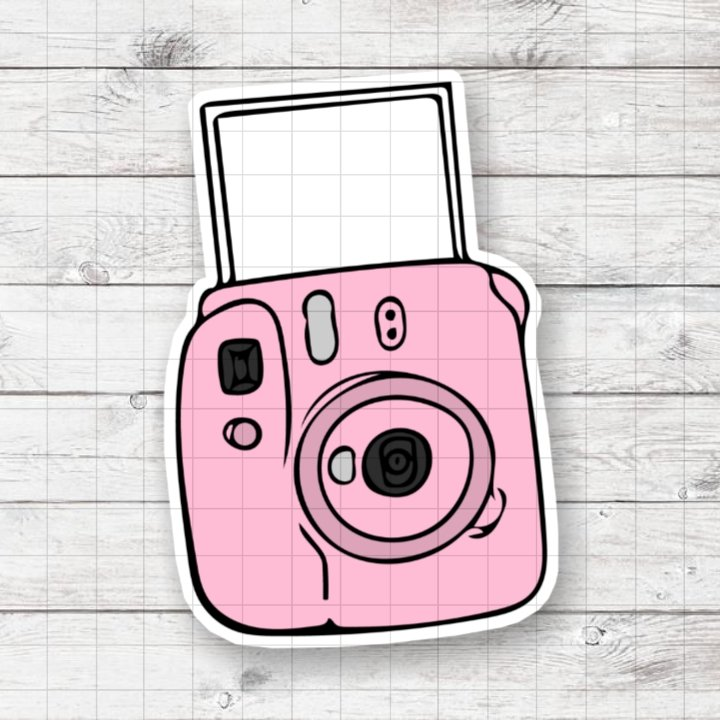 Retro Camera Design 2 Digital Printable Instant Download Graphic Sticker Mug Shirt Instax Aesthetic