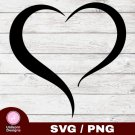 Open Heart Design 1 SVG PNG Silhouette Cut Files Cricut Vector Graphic Clipart Instant Download