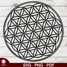 Flower Of Life Design 1 SVG PNG Silhouette Cut Files Cricut Vector Graphic Clipart Instant Download