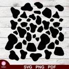 Cow Spots Pattern Design 1 SVG PNG Silhouette Cut Files Cricut Vector Clipart Instant Download