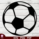 Soccer Ball Design 1 SVG PNG Silhouette Cut Files Cricut Vector Graphic Clipart Instant Download