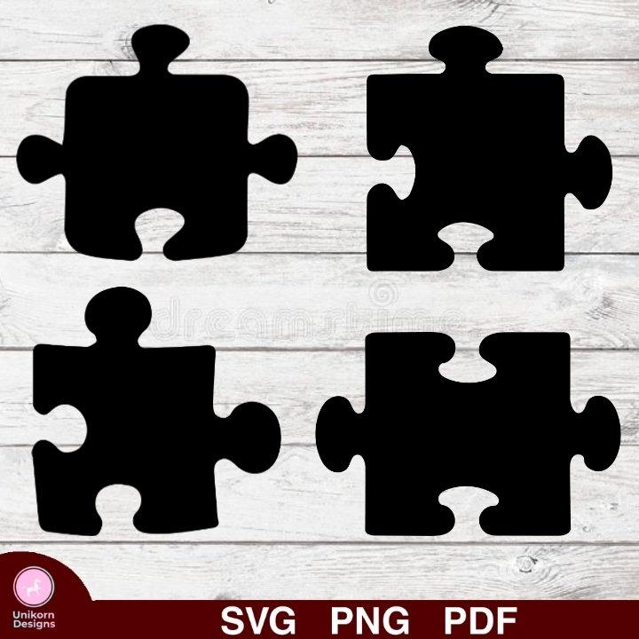 Puzzle Pieces Design 1 SVG PNG Silhouette Cut Files Cricut Vector Graphic Clipart Instant Download