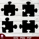 Puzzle Pieces Design 1 SVG PNG Silhouette Cut Files Cricut Vector Graphic Clipart Instant Download