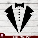 Tuxedo Bow Tie Design 1 SVG PNG Silhouette Cut Files Cricut Vector Graphic Instant Download