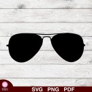 Aviator Eyeglasses Rayban Design 1 SVG PNG Silhouette Cut Files Cricut Vector Instant Download