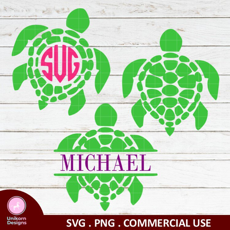 a4 Sea Turtle Swimming SVG PNG Instant Download Silhouette Cut Files Cricut Vector Graphic
