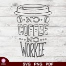 Coffee Cup Design 1 SVG PNG Silhouette Cut Files Cricut Vector Graphic Clipart Instant Download