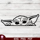 Baby Yoda Design 1 SVG PNG Silhouette Cut Files Cricut Vector Graphic Clipart Instant Download