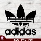 Adidas Drip Logo 1 SVG PNG Silhouette Cut Files Cricut Vector Graphic Clipart Instant Download