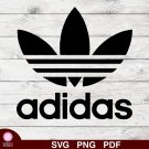 Adidas Design 2 SVG PNG Silhouette Cut Files Cricut Vector Graphic Clipart Instant Download