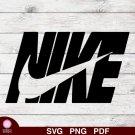 Nike Logo Design 2 SVG PNG Silhouette Cut Files Cricut Vector Graphic Clipart Instant Download