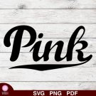 Victoria Secret Pink Design 1 SVG PNG Silhouette Cut Files Cricut Vector Graphic Clipart