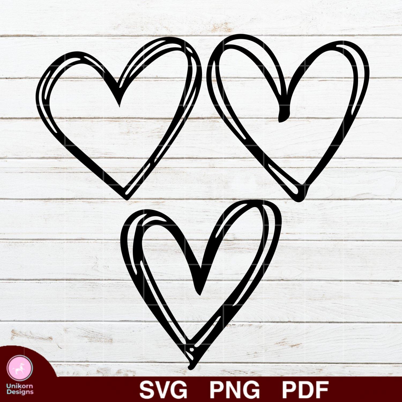Heart Bundle Design 3 SVG PNG Silhouette Cut Files Cricut Vector Graphic Clipart Instant Download