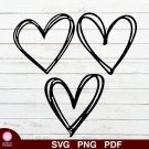 Heart Bundle Design 3 SVG PNG Silhouette Cut Files Cricut Vector Graphic Clipart Instant Download