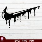 Nike Logo Drip Design 4 SVG PNG Silhouette Cut Files Cricut Vector Graphic Clipart Instant