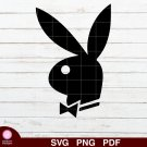 Playboy Logo Design 1 SVG PNG Silhouette Cut Files Cricut Vector Graphic Clipart Instant Download