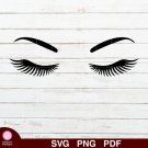 Eyelashes Design 1 SVG PNG Silhouette Cut Files Cricut Vector Graphic Clipart Instant Download