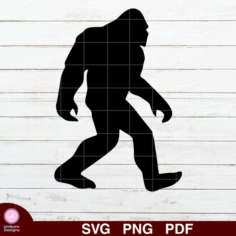 Bigfoot Yeti Design 1 SVG PNG Silhouette Cut Files Cricut Vector Graphic Clipart Instant Download