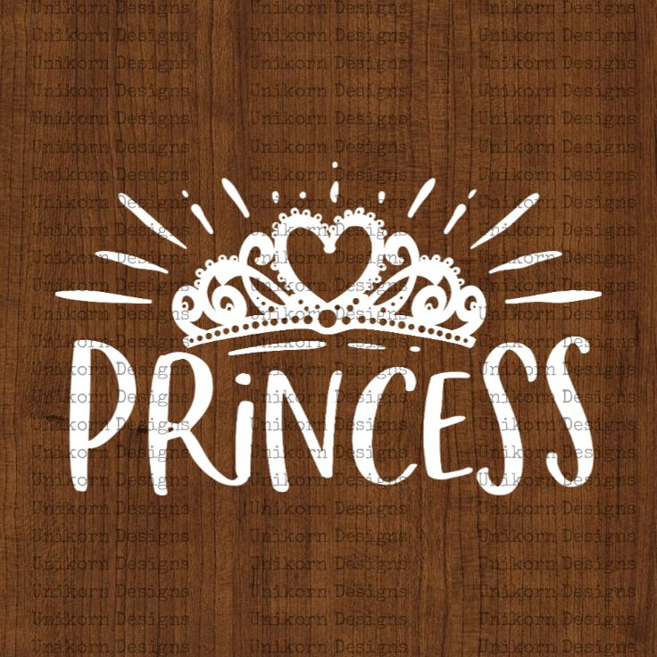 Princess Crown Design 1 SVG EPS DXF PNG Silhouette Cut Files Cricut Vector Graphic Clipart Instant