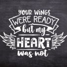 Heart Wings Design 1 SVG EPS DXF PNG Silhouette Cut Files Cricut Vector Graphic Clipart Instant