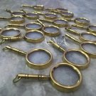 Brass Antique Magnifier Keychains Lot Of 30 Collectible Magnifying Glass