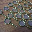 Brass Vintage Magnifier Keychains Lot Of 20 Pcs Collectible Magnifying