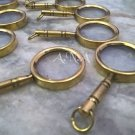 Lot Of 30 Brass Antique Magnifier Key chains Collectible Magnifying Glass