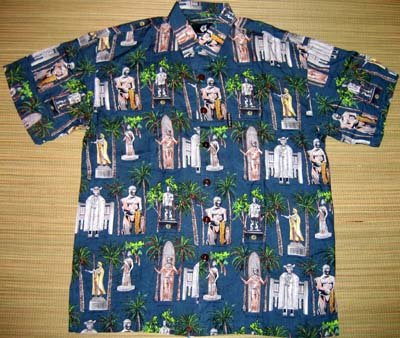 Mango Moon - Hawaiian Heroes Aloha Shirt - Blue