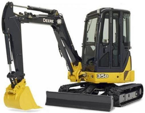 PDF John Deere 35D and 50D Compact Excavator Service Repair Technical Manual (TM2264)