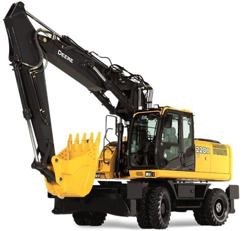 PDF John Deere 220DW Wheeled Excavator Service Repair Technical Manual (TM10545)