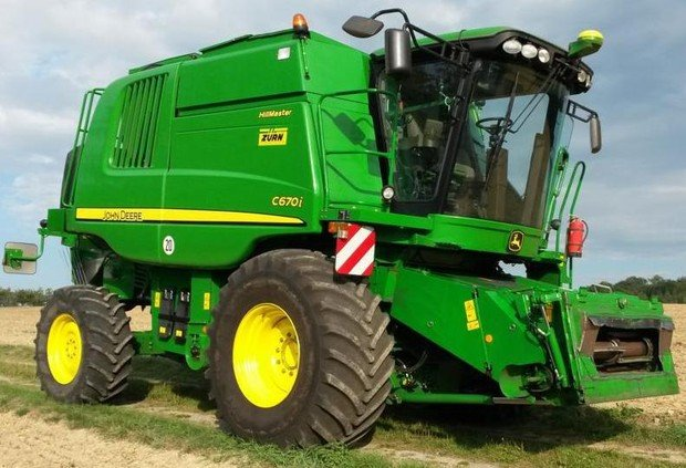 PDF John Deere Combines W540, W550 To T670 C670 Operation and Test Manual (TM402119)