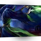 Abstract Horror Green Gas Wizard A1 Xlarge Canvas