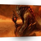 Abstract Horror Hades The Red Devil Lurks A1 Xlarge Canvas