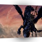 Abstract Horror Pegasus Dragon Layer A1 Xlarge Canvas