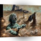 Abstract Horror Storm Hits Zombie Prisoner A1 Xlarge Canvas