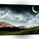 Abstract Landscape Beyond Lunar Valley A1 Xlarge Canvas