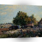 Abstract Landscape City Fields Of Joy A1 Xlarge Canvas