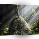Abstract Landscape Fallen Sword Excalibur A1 Xlarge Canvas