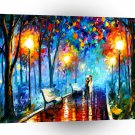 Abstract Landscape Hot Rainy Night A1 Xlarge Canvas
