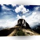 Abstract Landscape Jesus Cross And Stone A1 Xlarge Canvas