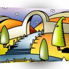 Abstract Landscape Land Of Fun A1 Xlarge Canvas