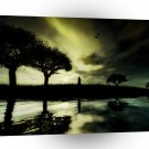 Abstract Landscape Lonley River Night A1 Xlarge Canvas