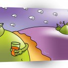 Abstract Landscape Monster Land A1 Xlarge Canvas