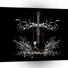 Abstract Music Acoustic Guitar Patterned A1 Xlarge Canvas